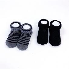 Kushies - Bas en ratine - Paquet de 2 - Noir