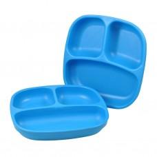 Re-Play - Assiette divisée de 7 po en plastique recyclé - Bleu ciel