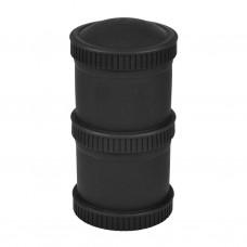 Re-Play - Snack Stacks - Contenants interchangeables et empilables en plastique recyclé - Noir