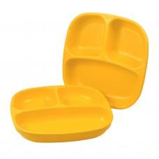 Re-Play - Assiette divisée de 7 po en plastique recyclé - Jaune soleil