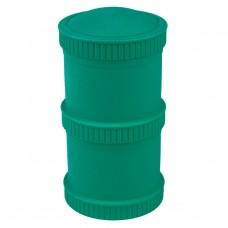 Re-Play - Snack Stacks - Contenants interchangeables et empilables en plastique recyclé - Sarcelle
