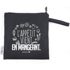 Bédaine Love - Duo de sacs réutilisables - L'appétit vient en mangeant