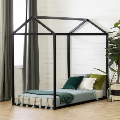 South Shore - Sweedi - Lit simple maison scandinave - Noir mat