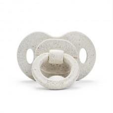 Elodie Details - Sucette en silicone orthodontique en bambou - Blanc Lily