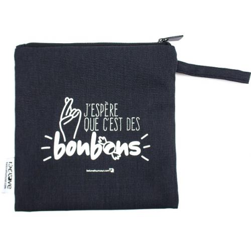 Bédaine Love - Duo de sacs réutilisables - J'espère que c'est des bonbons