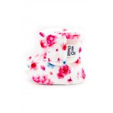 Bébé Ô Chaud - Pantoufles à velcro – Bouquet de Fleurs