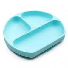 Bumkins - Assiette Dish Grip à succion - Bleu