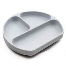 Bumkins - Assiette Dish Grip à succion - Gris