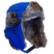 Calikids - Chapeau aviateur en nylon avec fausse-fourrure- Bleu