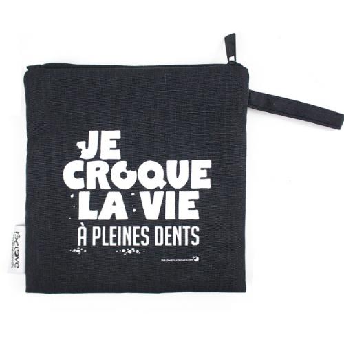 Bédaine Love - Duo de sacs réutilisables - Je croque la vie à pleines dents