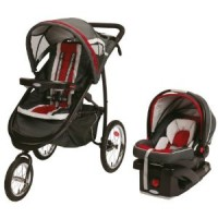 Graco FastAction Fold Jogger Travel System with SnugRide Click Connect 35 Infant Car Seat - Chili Red