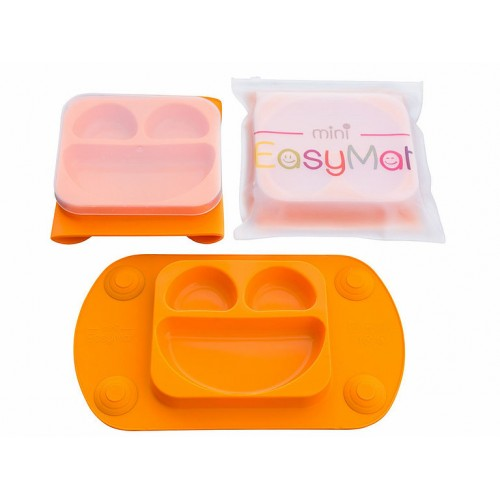EasyMat - Assiette à succion portable - Orange
