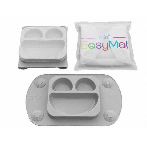 EasyMat - Assiette à succion portable - Gris