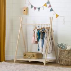 South Shore - Sweedi - Garde-robe ouverte scandinave pour enfants - Bois naturel