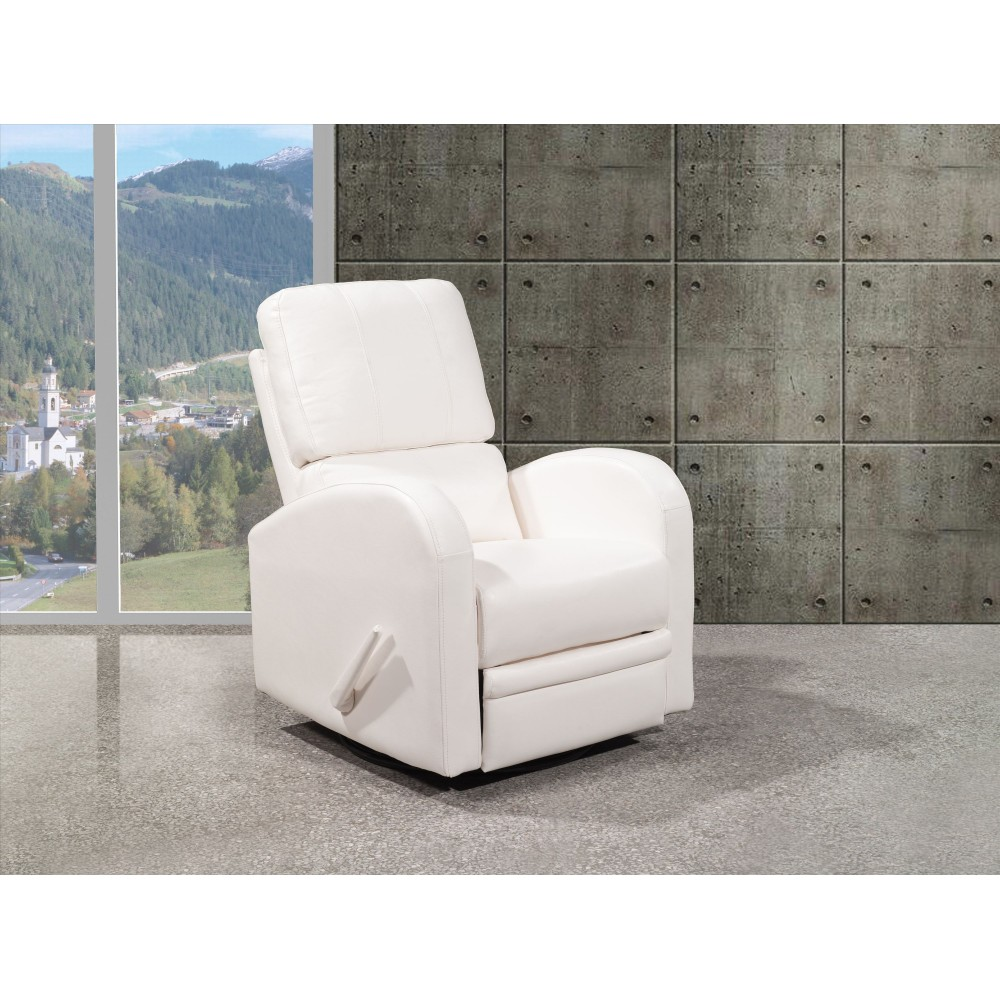 Goberce Fauteuil ber§ant et inclinable Blanc
