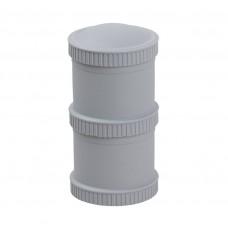 Re-Play - Snack Stacks - Contenants interchangeables et empilables en plastique recyclé - Gris