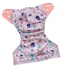 Face de Pet - Couches lavables à poche - Hippie (motif exclusif)