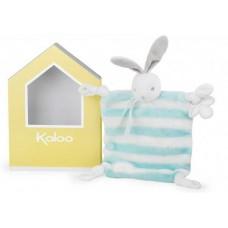 Kaloo - Bébé Pastel - Doudou Lapinou aqua & crême