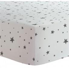 Kushies - Drap contour pour matelas à langer arqué - Étoiles Noir et Blanc