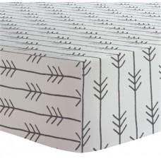 Kushies - Drap contour pour matelas à langer arqué - Flèches Noir et Blanc