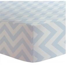Kushies - Drap contour pour matelas à langer arqué - Chevron bleu