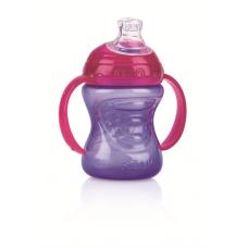 Nuby - Gobelet No-Spill™ GripN' Sip™ 240 mL (8oz) - mauve/rose - 5310052