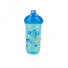Nuby - Gobelet isotherme No-Spill™ Easy Sip™ 270 ml - Bleu - 5310195