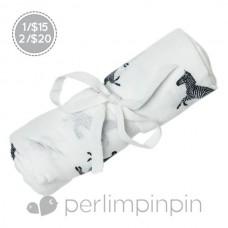 Perlimpinpin - Couverture de mousseline - Zèbres