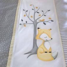 Anaya - Ensemble de literie - Grand renard jaune