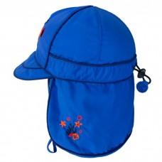 Calikids - Chapeau d'été avec protection du cou - Bleu nautique