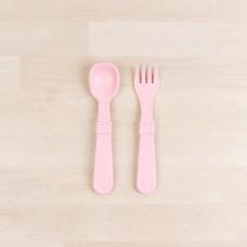 Re-Play - Naturals - Ensemble de 4 fourchettes et 4 cuillères en plastique recyclé - Rose glacé