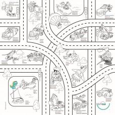 Bimoo - Nappe à colorier multilingue - Les Transports