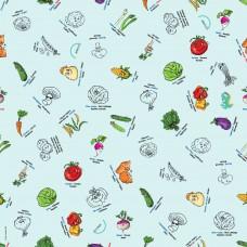 Bimoo - Nappe à colorier multilingue - Les Légumes