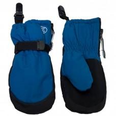 Calikids - Mitaines imperméables avec attaches - Bleu Saphir