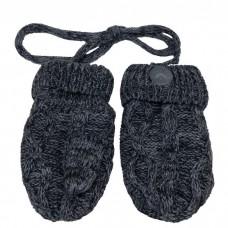 Calikids - Mitaines en tricot de coton - Gris Charcoal