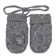 Calikids - Mitaines en tricot de coton - Gris pâle