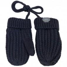 Calikids - Mitaines de bébé en tricot de coton - Gris Charcoal