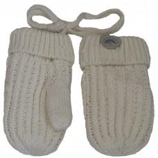 Calikids - Mitaines de bébé en tricot de coton - Crème