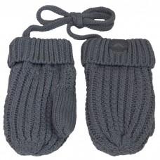 Calikids - Mitaines de bébé en tricot de coton - Gris pâle