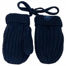 Calikids - Mitaines de bébé en tricot de coton - Marine
