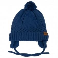 Calikids - Bonnet d'hiver unisexe en tricot de coton - Bleu jeans