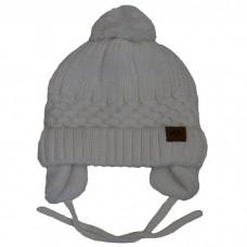 Calikids - Bonnet d'hiver unisexe en tricot de coton - Blanc neige