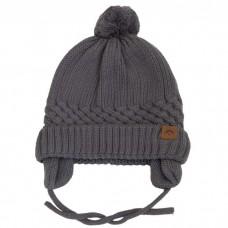 Calikids - Bonnet d'hiver unisexe en tricot de coton - Gris