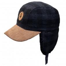 Calikids -  Chapeau d'hiver à carreaux pour garçon - Gris