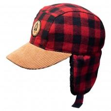 Calikids -  Chapeau d'hiver à carreaux pour garçon - Rouge