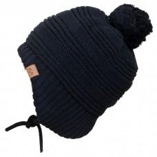 Calikids - Bonnet d'hiver doublé en tricot unisexe - Noir