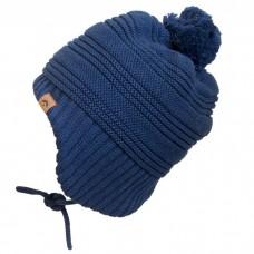 Calikids - Bonnet d'hiver doublé en tricot unisexe - Marine