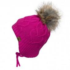 Calikids - Bonnet d'hiver doublé teddy en tricot cœur pour fille - Cabaret