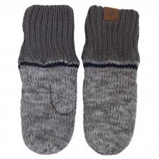 Calikids - Mitaine d'hiver unisexe en tricot de coton à poignets longs - Gris