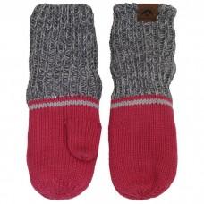 Calikids - Mitaine d'hiver unisexe en tricot de coton à poignets longs - Magenta